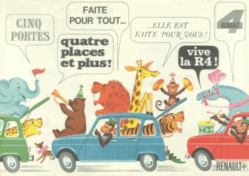 various circus animals (France, 1962)